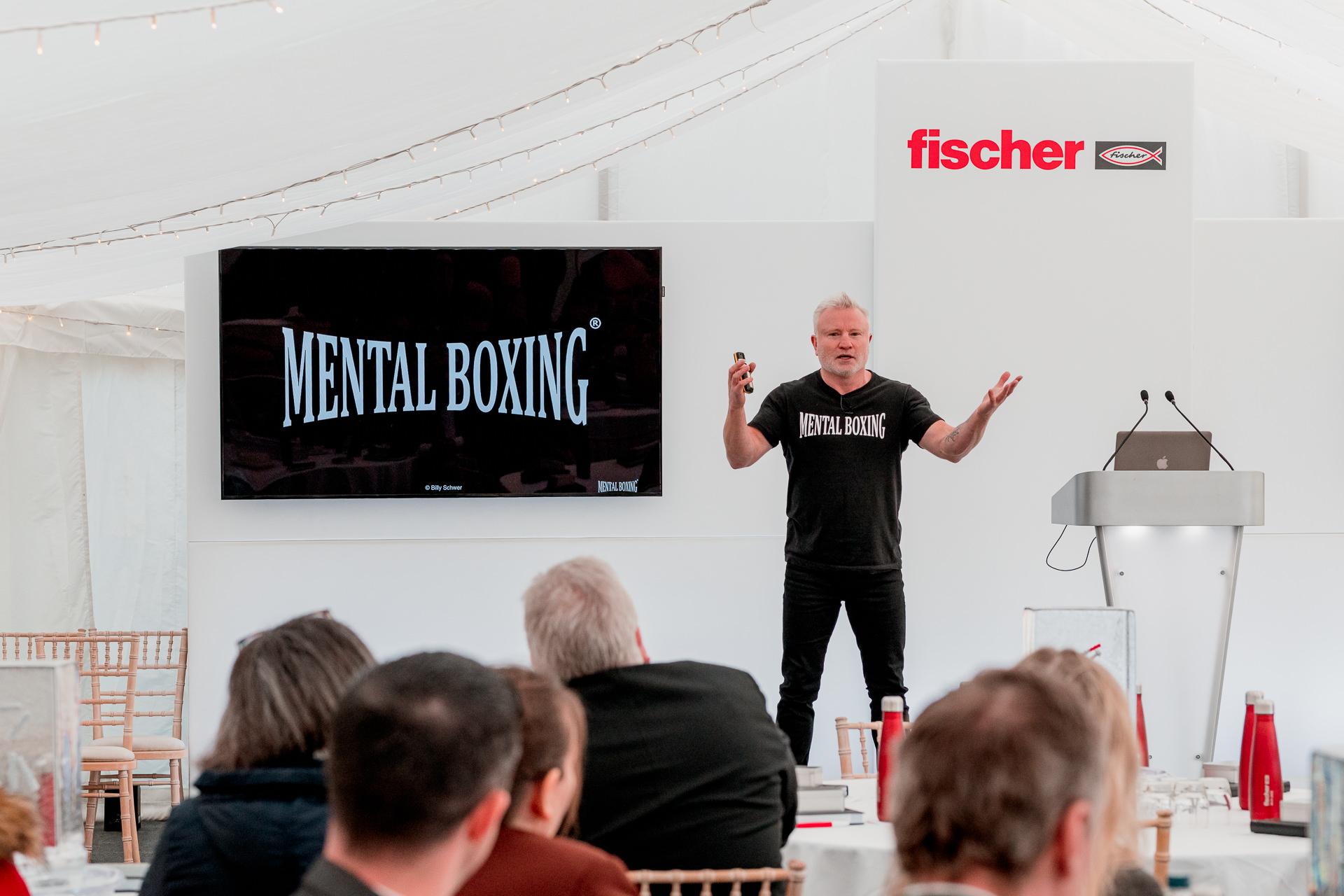 PR Photographer Oxfordshire, Billy Schwer Mental Boxing Talk Fischer Fixings
