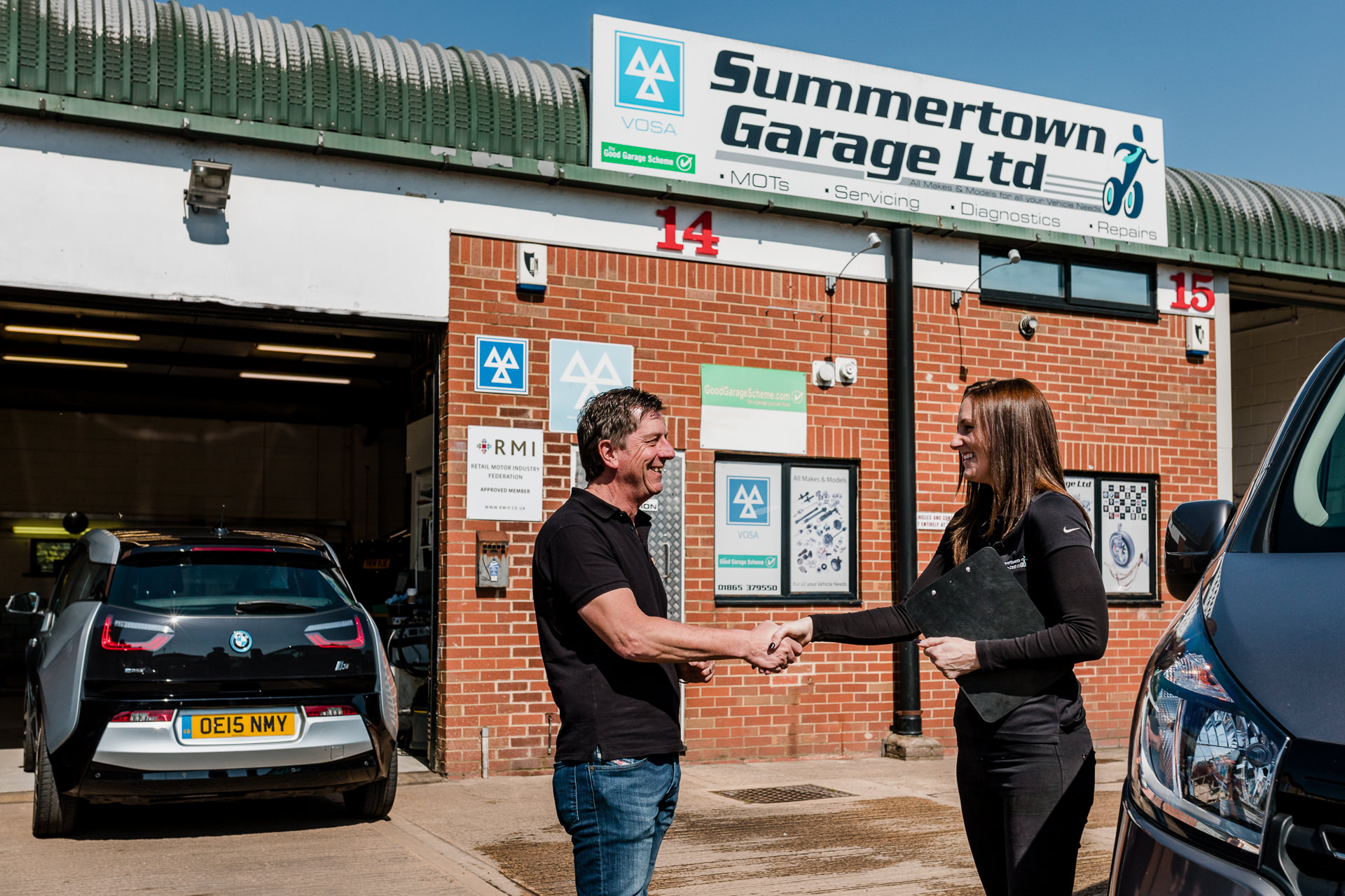 professional commercial PR business lifestyle photographer Summertown Garage Kidlington