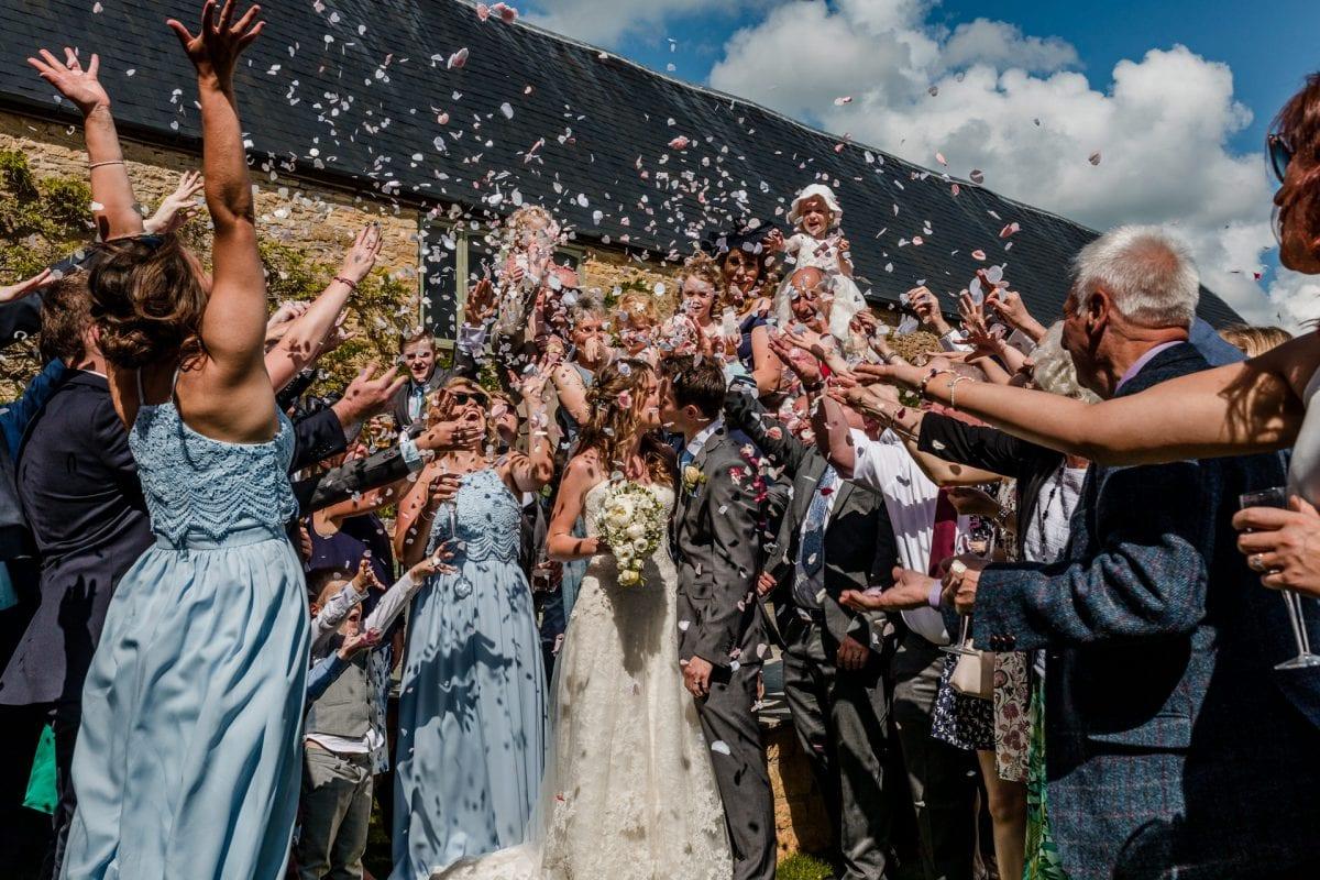 Confetti Throw The Great Barn Aynho wedding