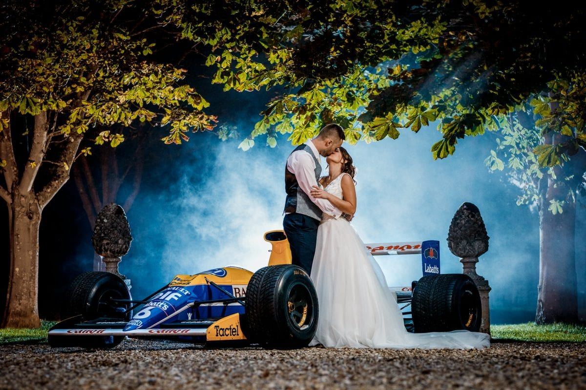 Nigel Mansell F1 car at Ardington House Wedding