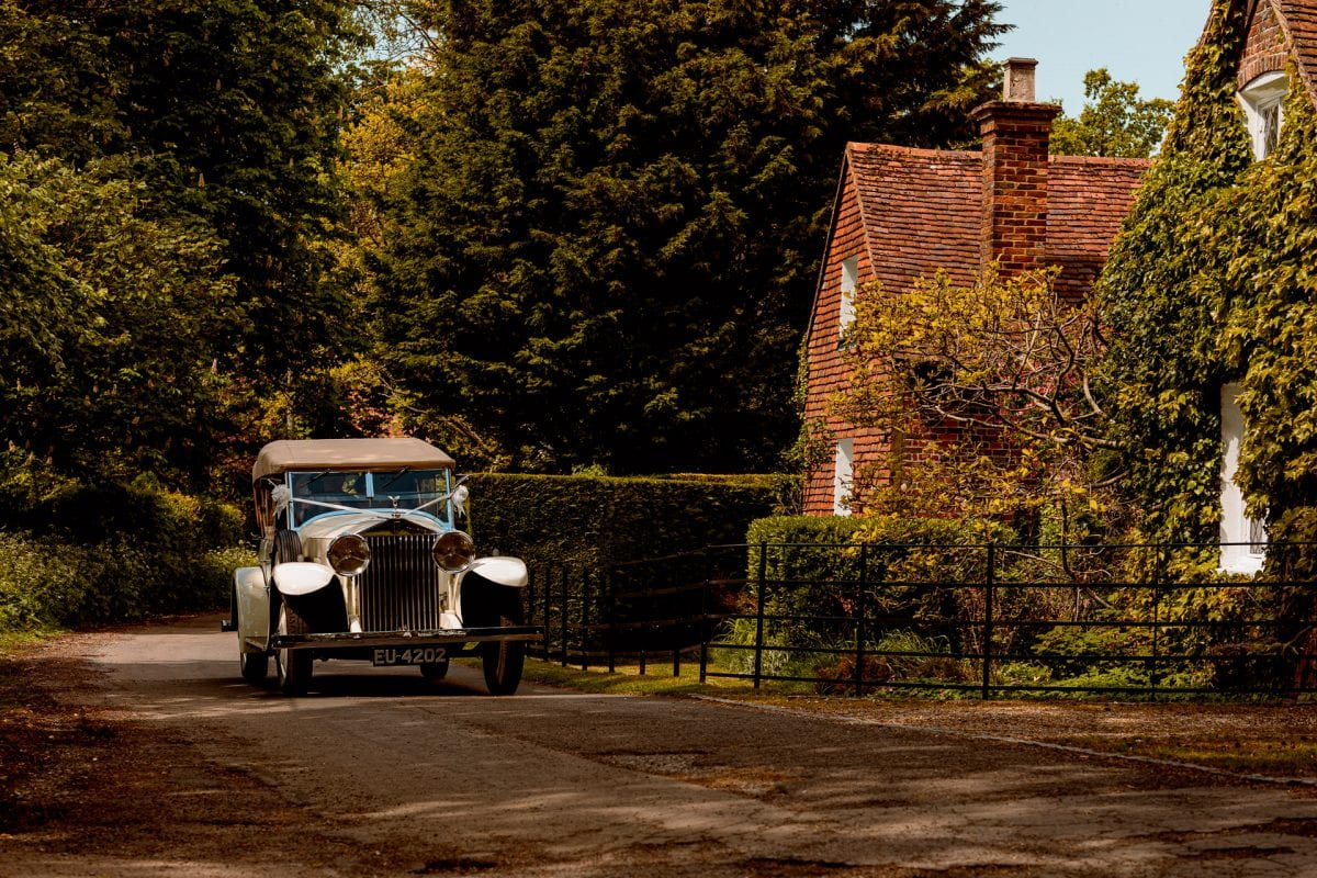 White Vintage Rolls Royce