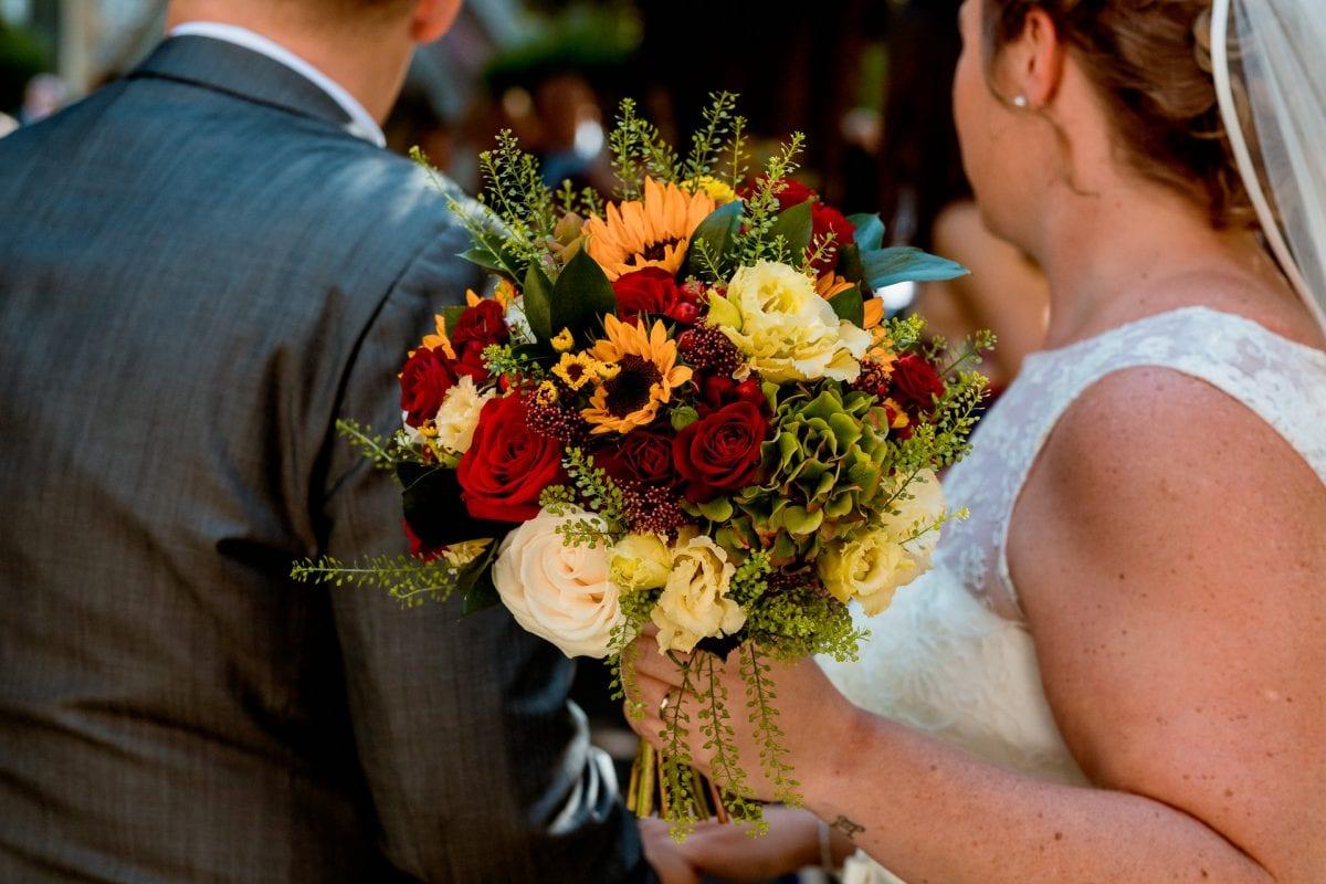 brides wedding bouquet Wedding Photographer St Mary's Church Wendover Aylesbury Buckinghamshire