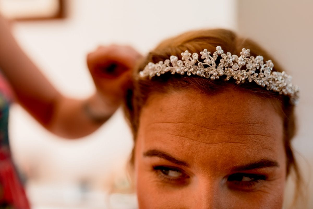 Wedding Photographer Buckinghamshire bride getting ready at home