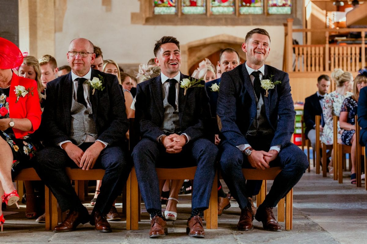 St Mary's Church Kidlington groom and best man waiting for the ceremony to start