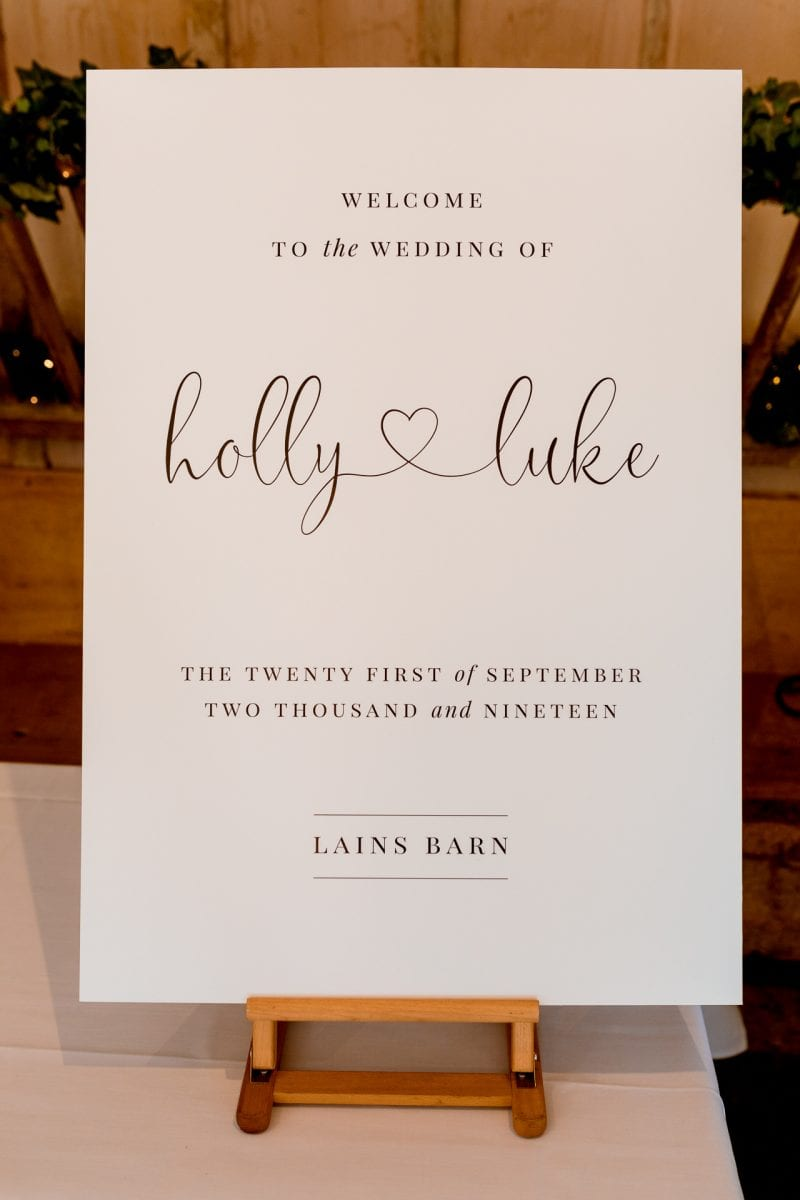 lains barn wedding photography blog oxfordshire signage
