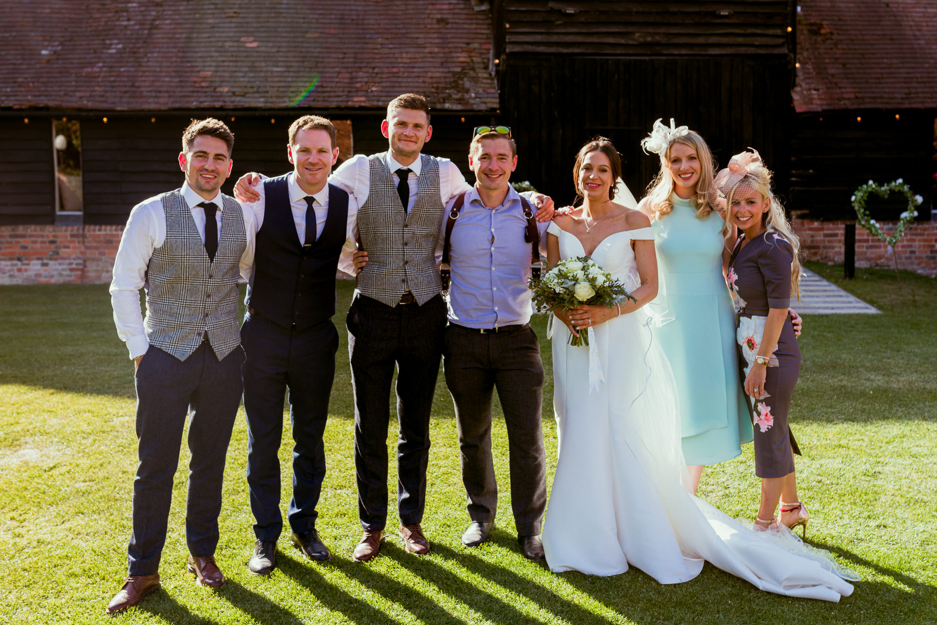potters instinct photography with 3 of his wedding couples at one wedding