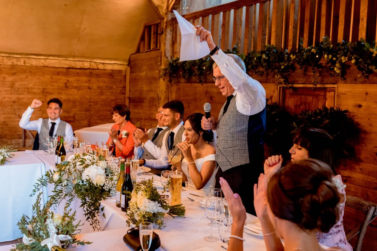 lains barn wedding photography blog oxfordshire dad's speech