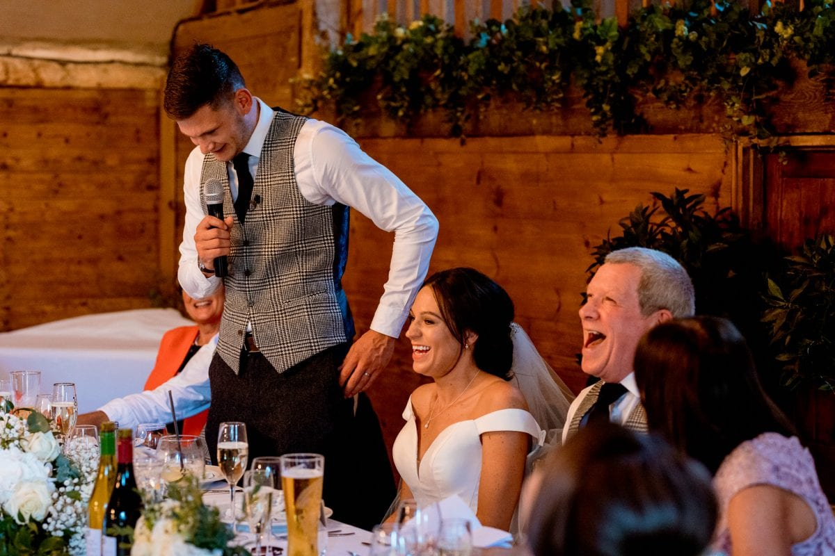 lains barn wedding photography blog oxfordshire grooms speech