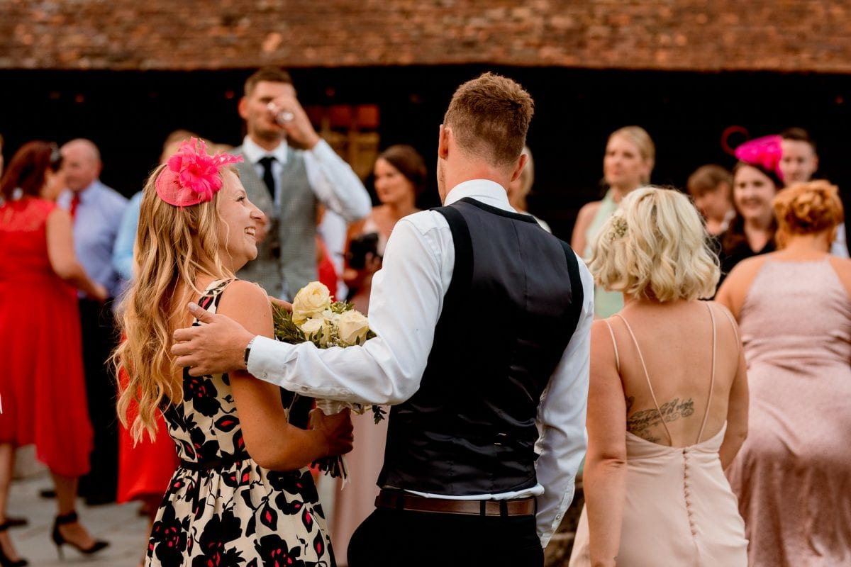 lains barn wedding photography blog oxfordshire guests at the wedding