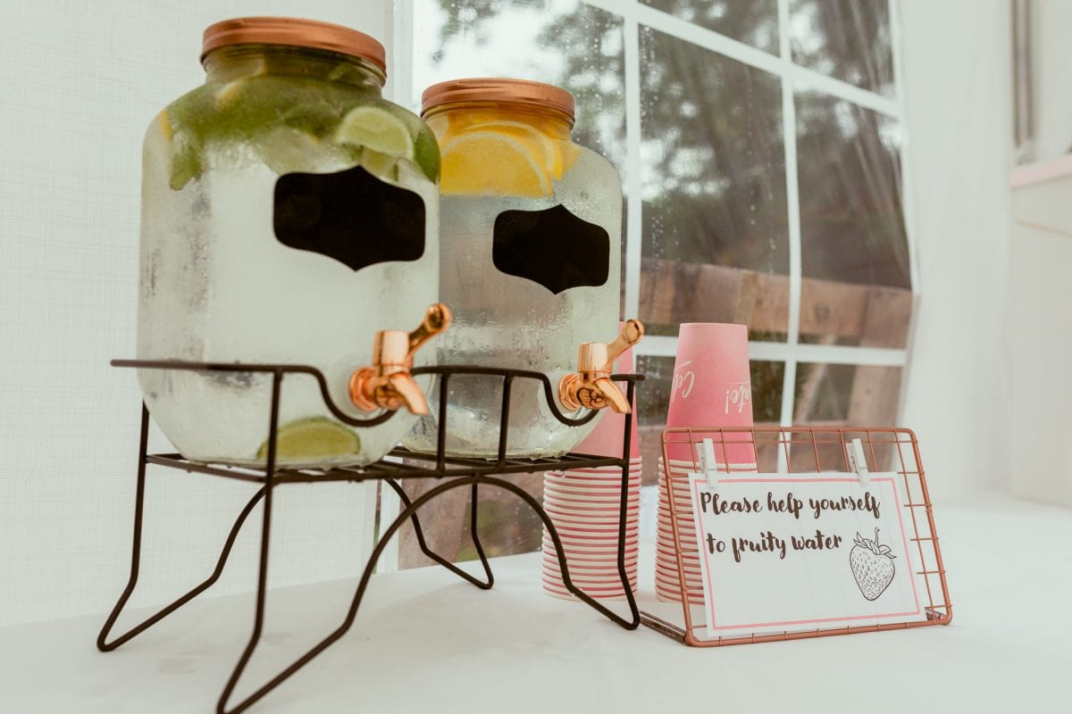 Wedding reception details and inspiration drinks