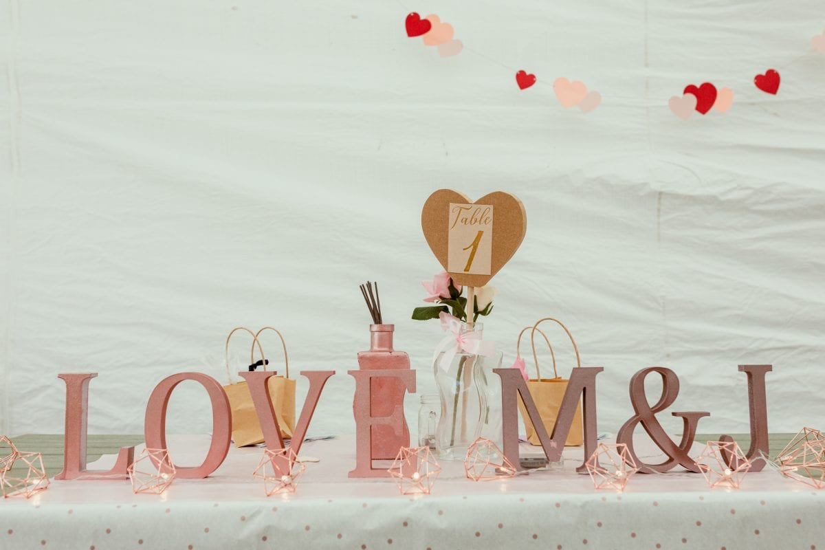 Wedding reception details and inspiration top table