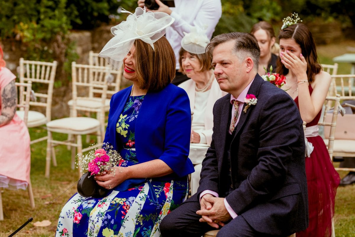 Guests sat during the ceremony