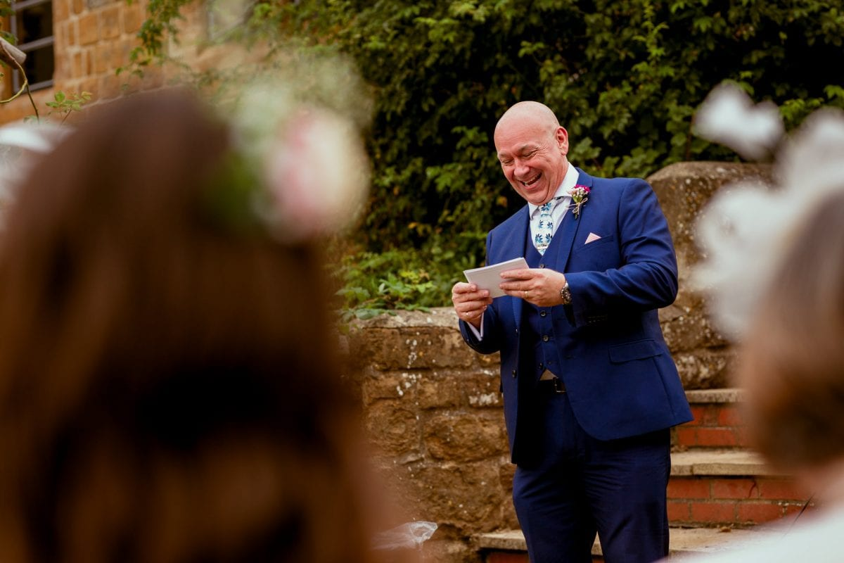 Father of the groom giving a speech