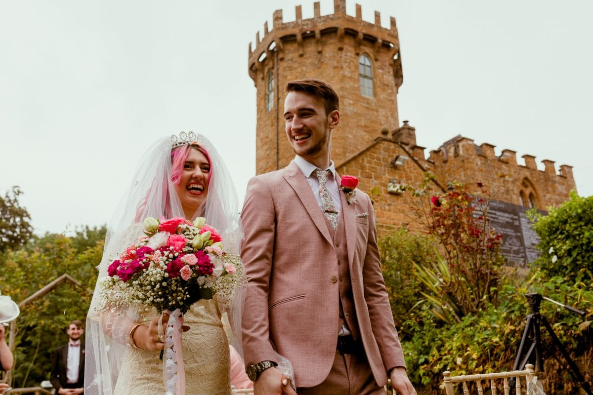 Just married at The Castle Edgehill