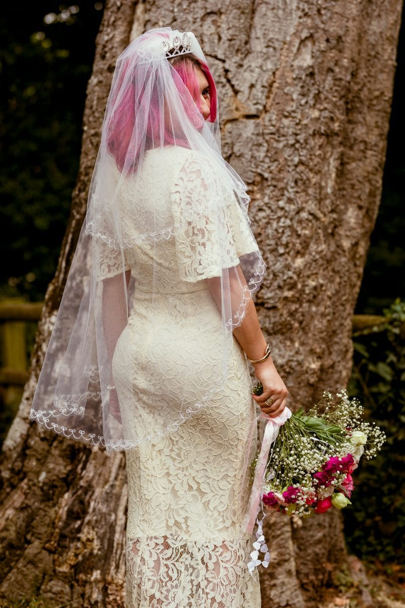 Bridal Dress Inspiration with pink hair