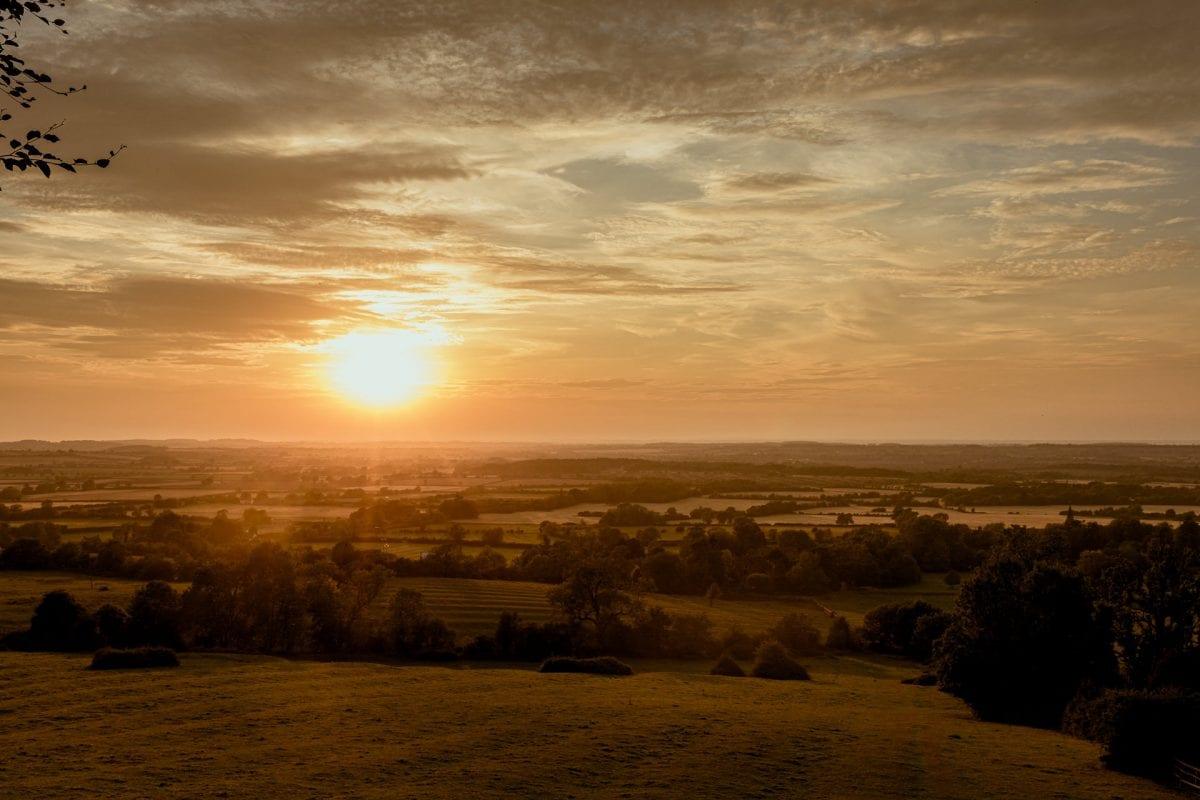 Sunset of Edgehill Castle